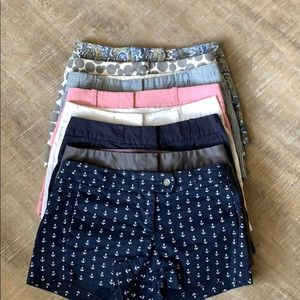 8 pairs of J crew shorts